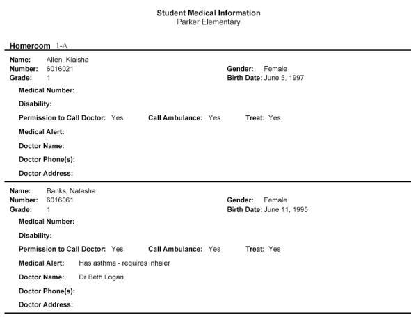 Student Medical